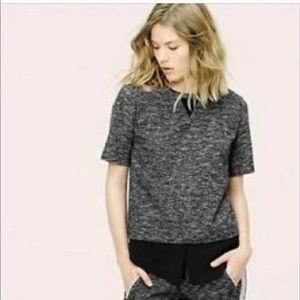 Lou & Grey Space Dyed Layered Duo Top Size M